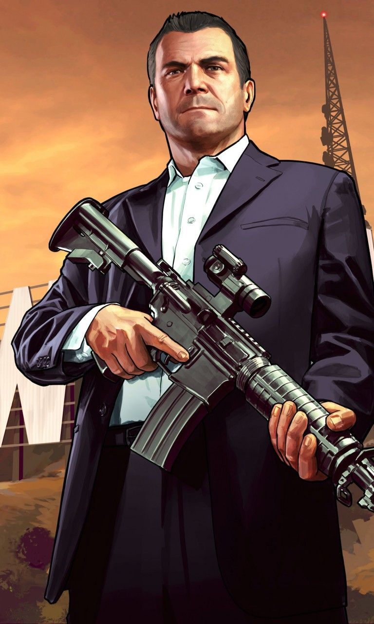 GTA 5 : Michael De Santa Wallpaper for LG Optimus G