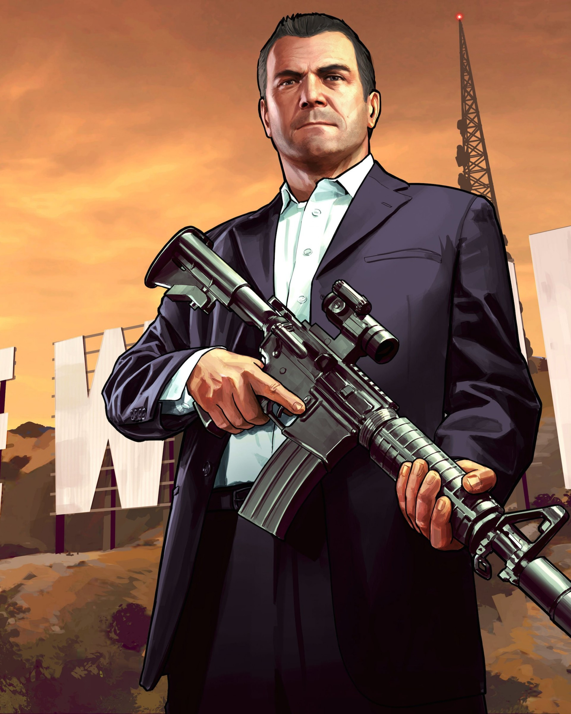 GTA 5 : Michael De Santa Wallpaper for Google Nexus 7