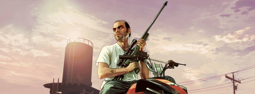 GTA 5 : Trevor Philips Wallpaper for Social Media Facebook Cover