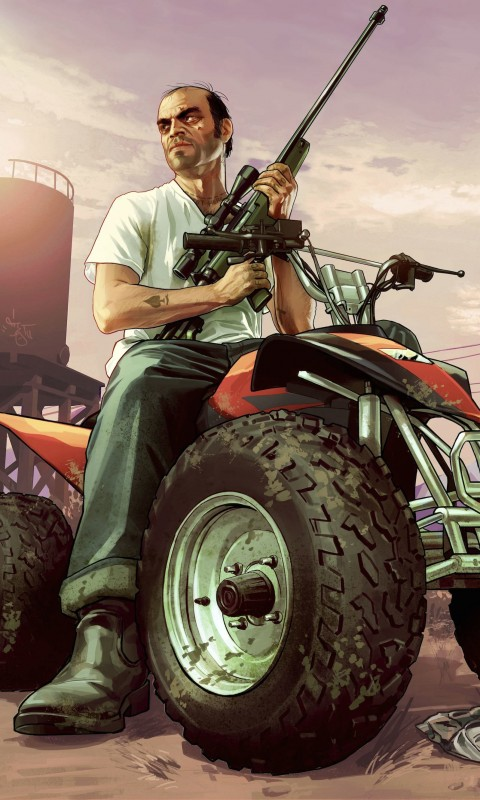 GTA 5 : Trevor Philips Wallpaper for SAMSUNG Galaxy S3 Mini
