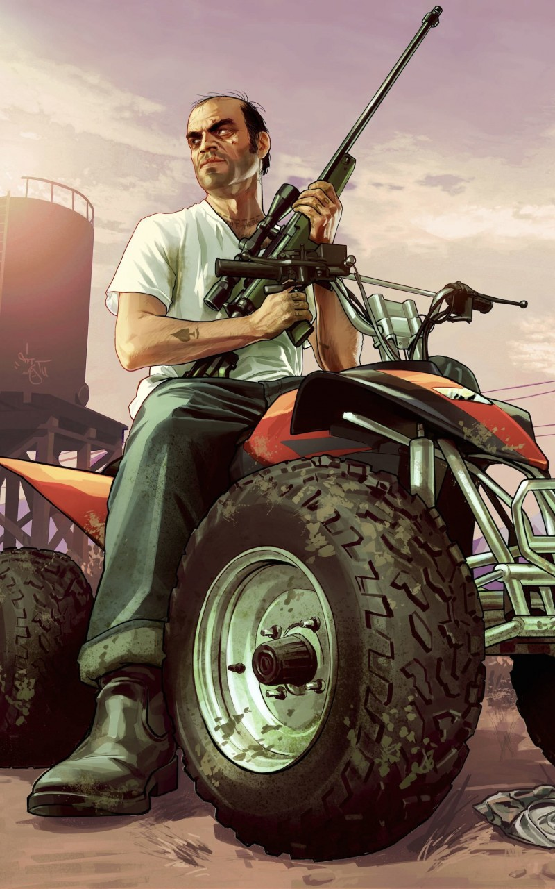 GTA 5 : Trevor Philips Wallpaper for Amazon Kindle Fire HD