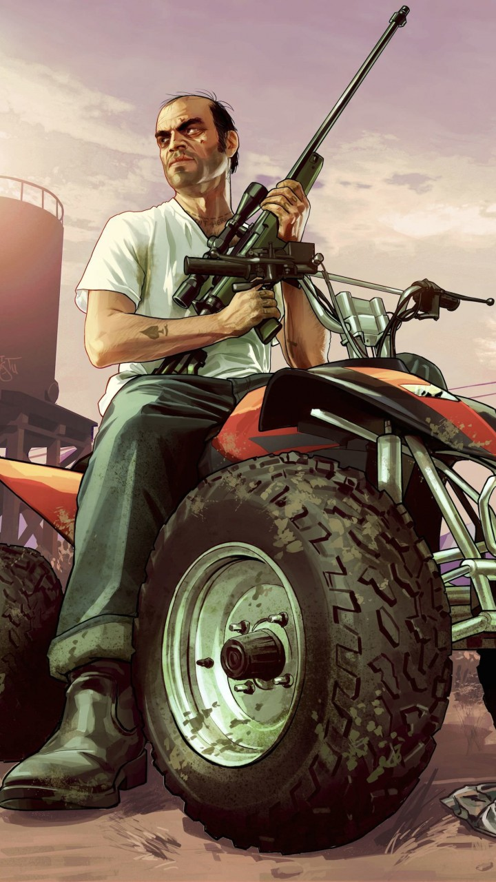 GTA 5 : Trevor Philips Wallpaper for Motorola Moto G