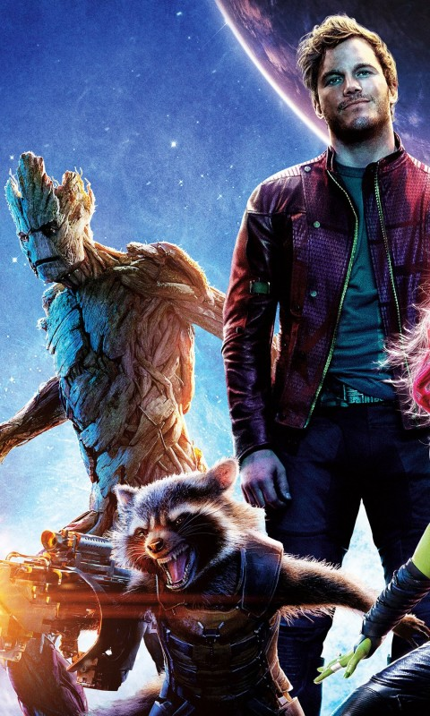 Guardians of the Galaxy Wallpaper for HTC Desire HD