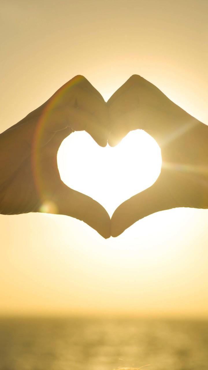 Love Wallpaper For Redmi 2 : Download Hand Hearts at Sunset HD wallpaper for Redmi 2 - HDwallpapers.net