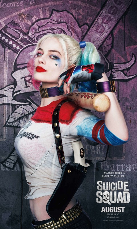 Harley Quinn - Suicide Squad Wallpaper for HTC Desire HD
