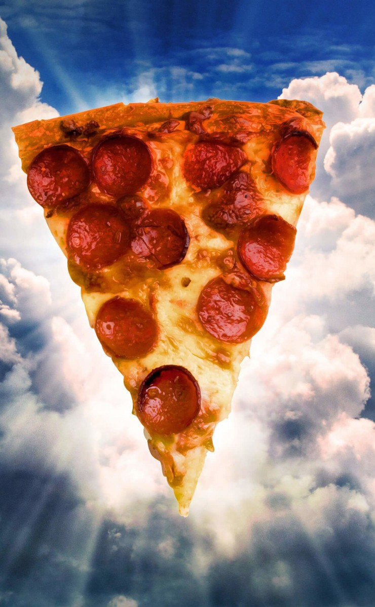 Holy Pizza Wallpaper for Apple iPhone 4 / 4s