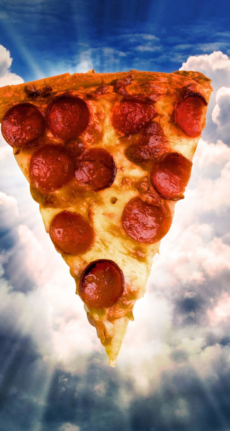 Holy Pizza Wallpaper for Apple iPhone 5 / 5s