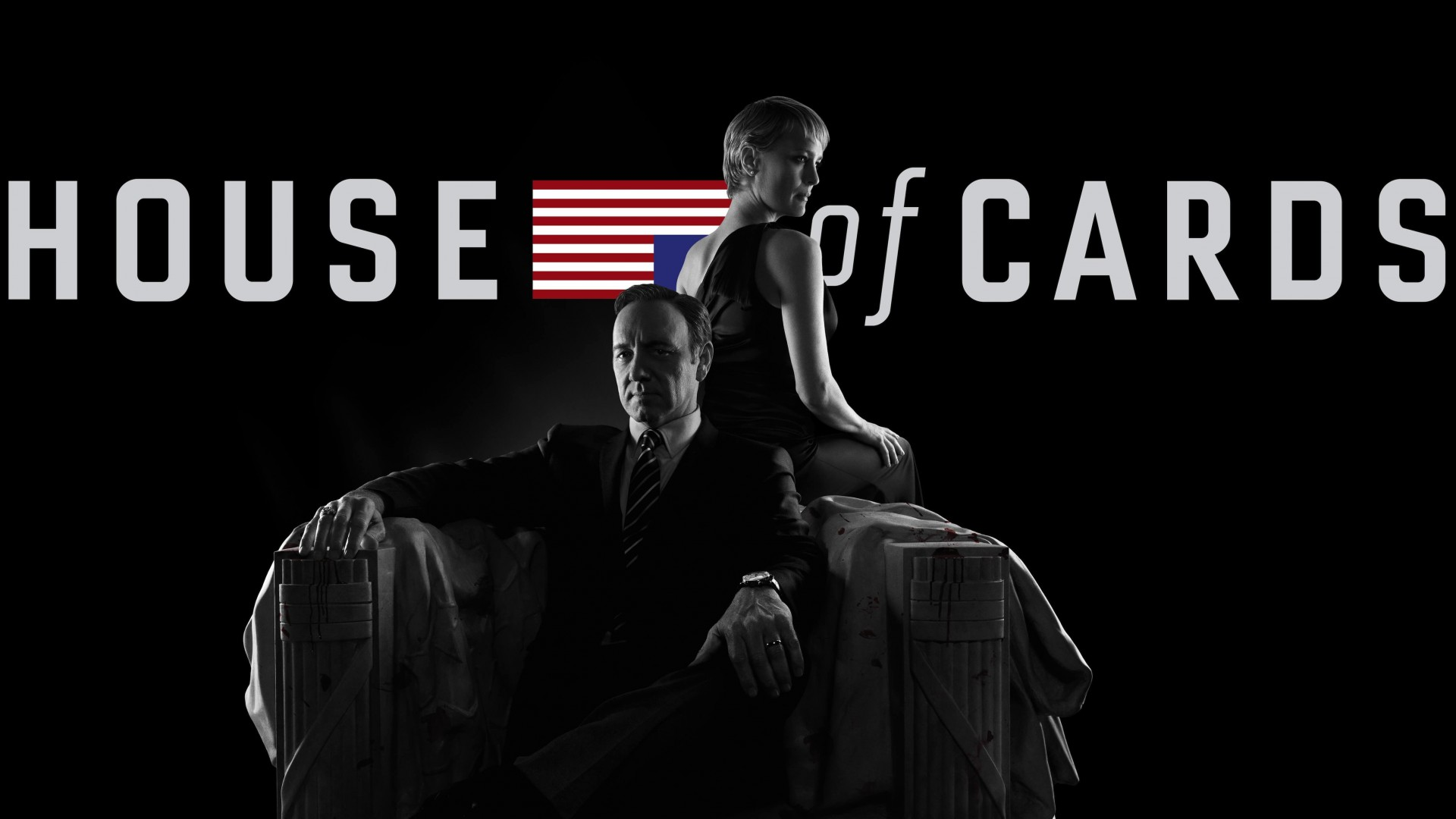 House of Cards - Black & White Wallpaper for Desktop 1920x1080