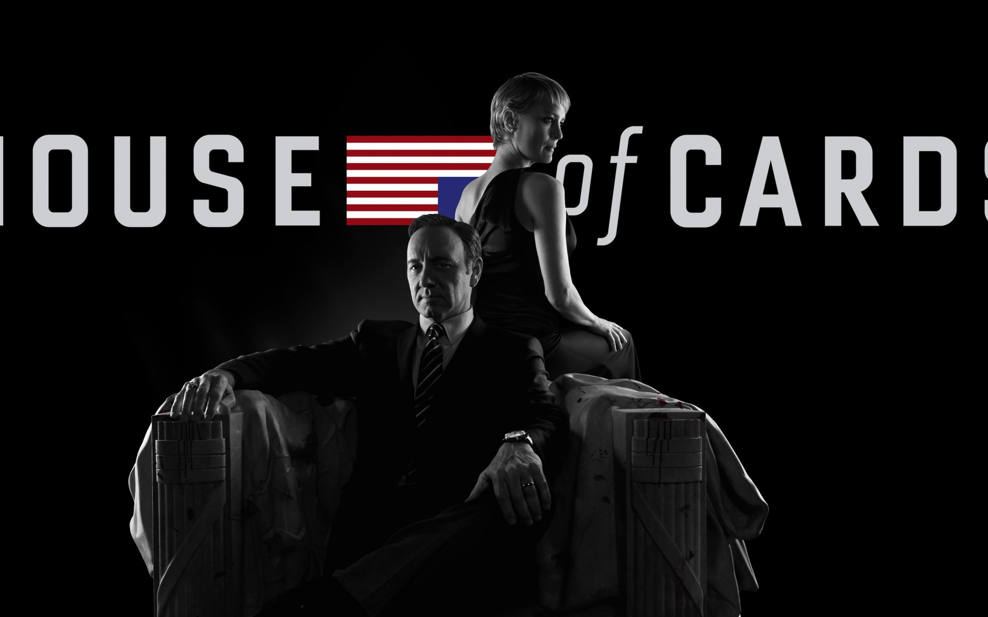 House of Cards - Black & White Wallpaper for Desktop 1920x1200