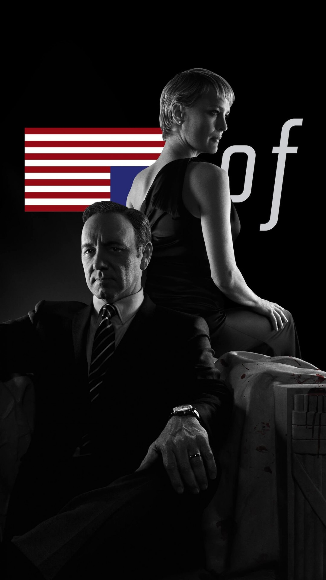 House of Cards - Black & White Wallpaper for HTC One