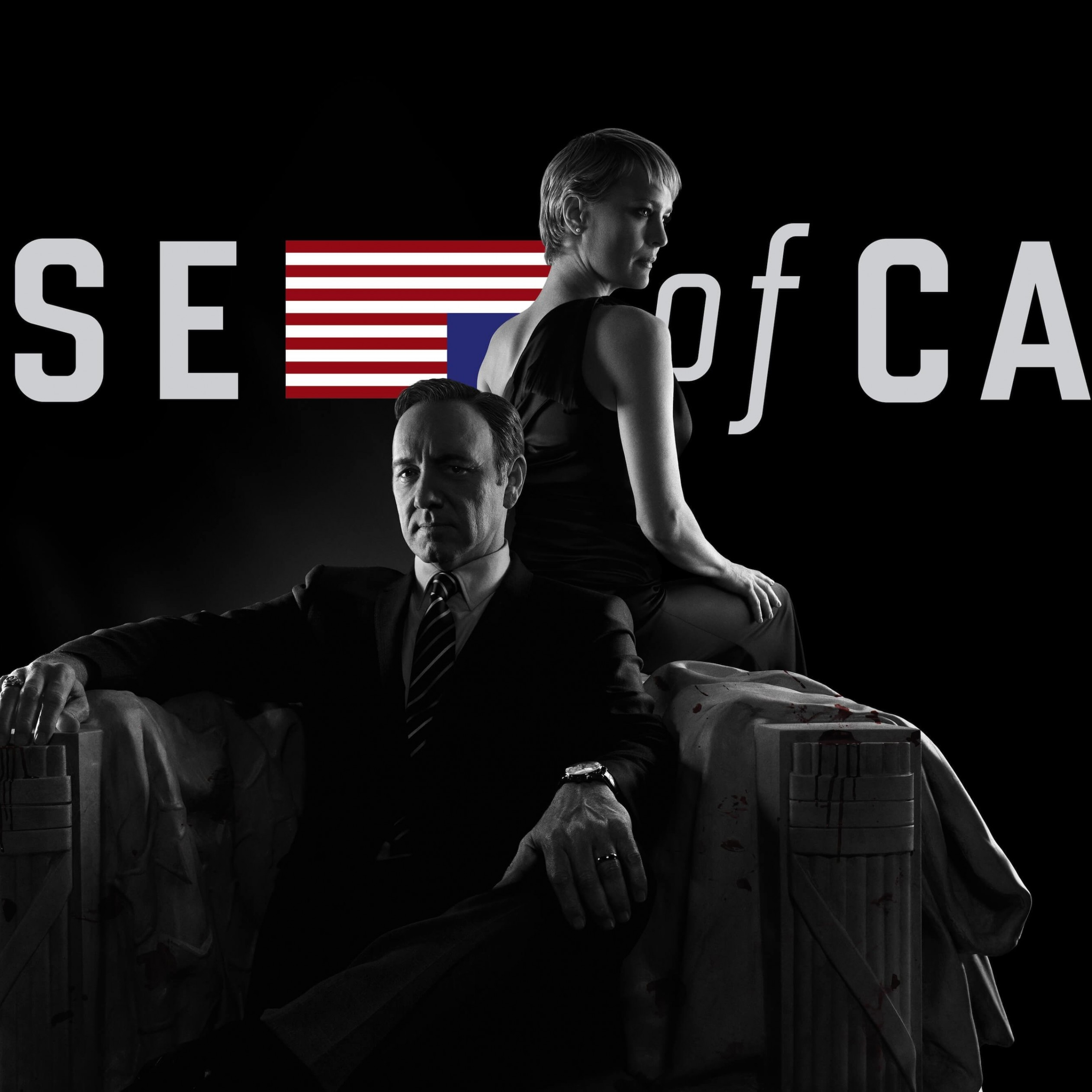 House of Cards - Black & White Wallpaper for Apple iPad 3