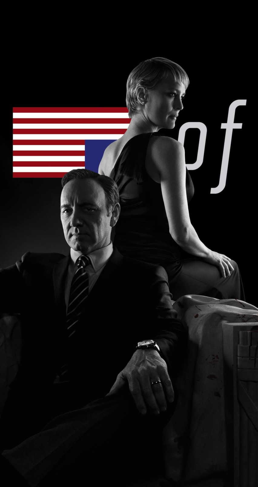 House of Cards - Black & White Wallpaper for Apple iPhone 6 / 6s