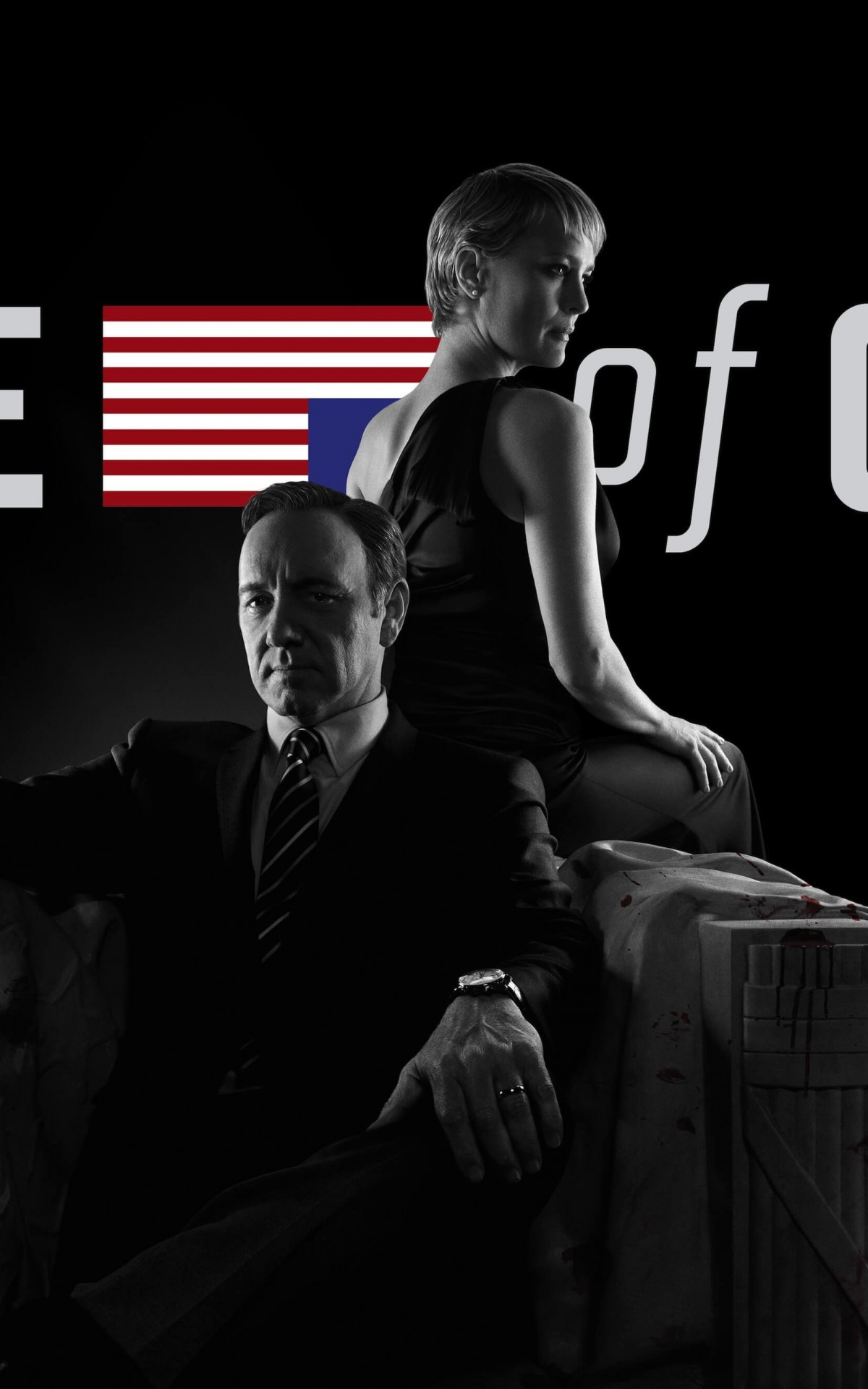 House of Cards - Black & White Wallpaper for Amazon Kindle Fire HDX