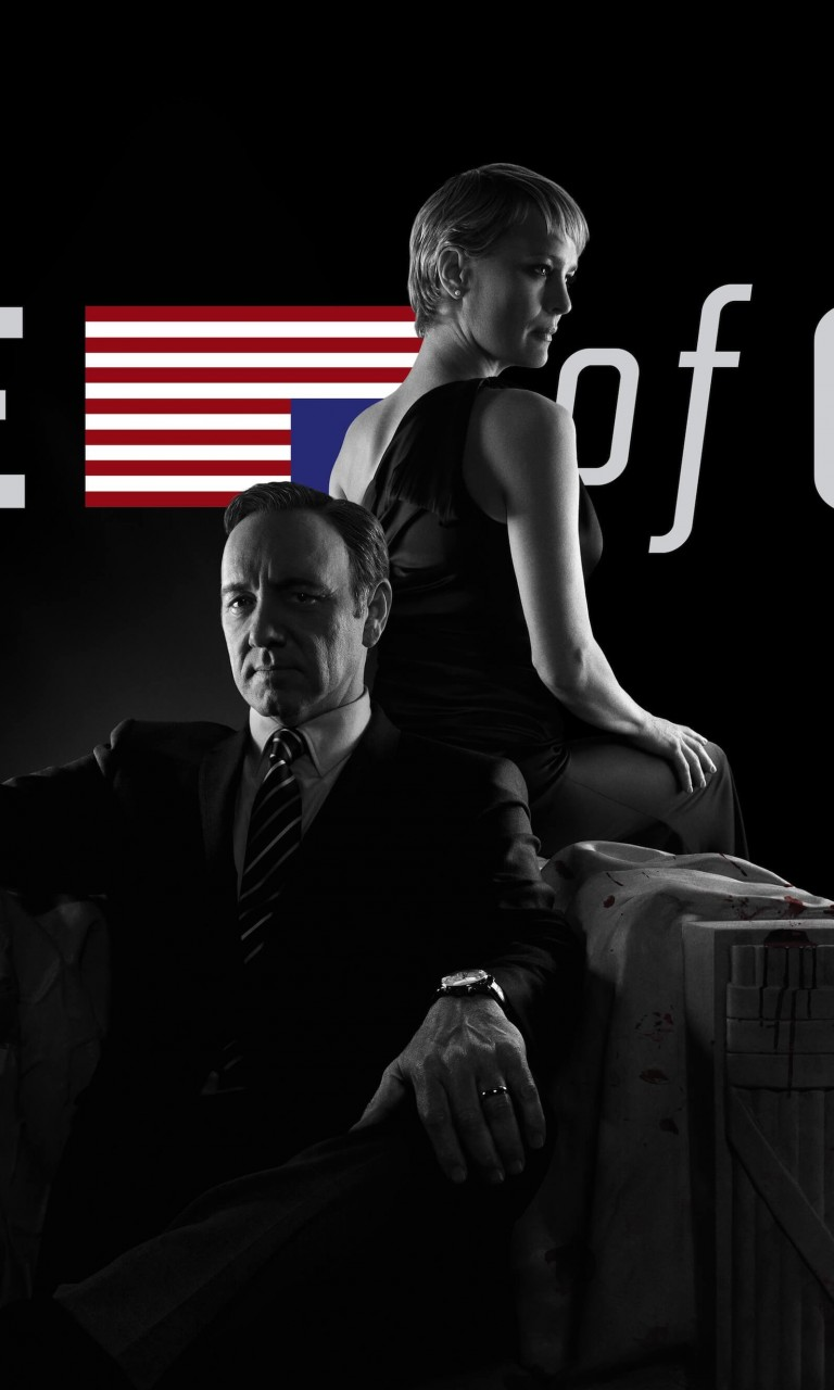 House of Cards - Black & White Wallpaper for Google Nexus 4