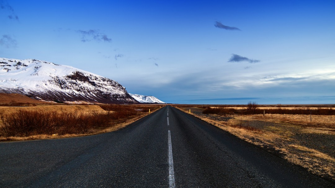 Icelandic Road, Skaftafell, Iceland Wallpaper for Social Media Google Plus Cover