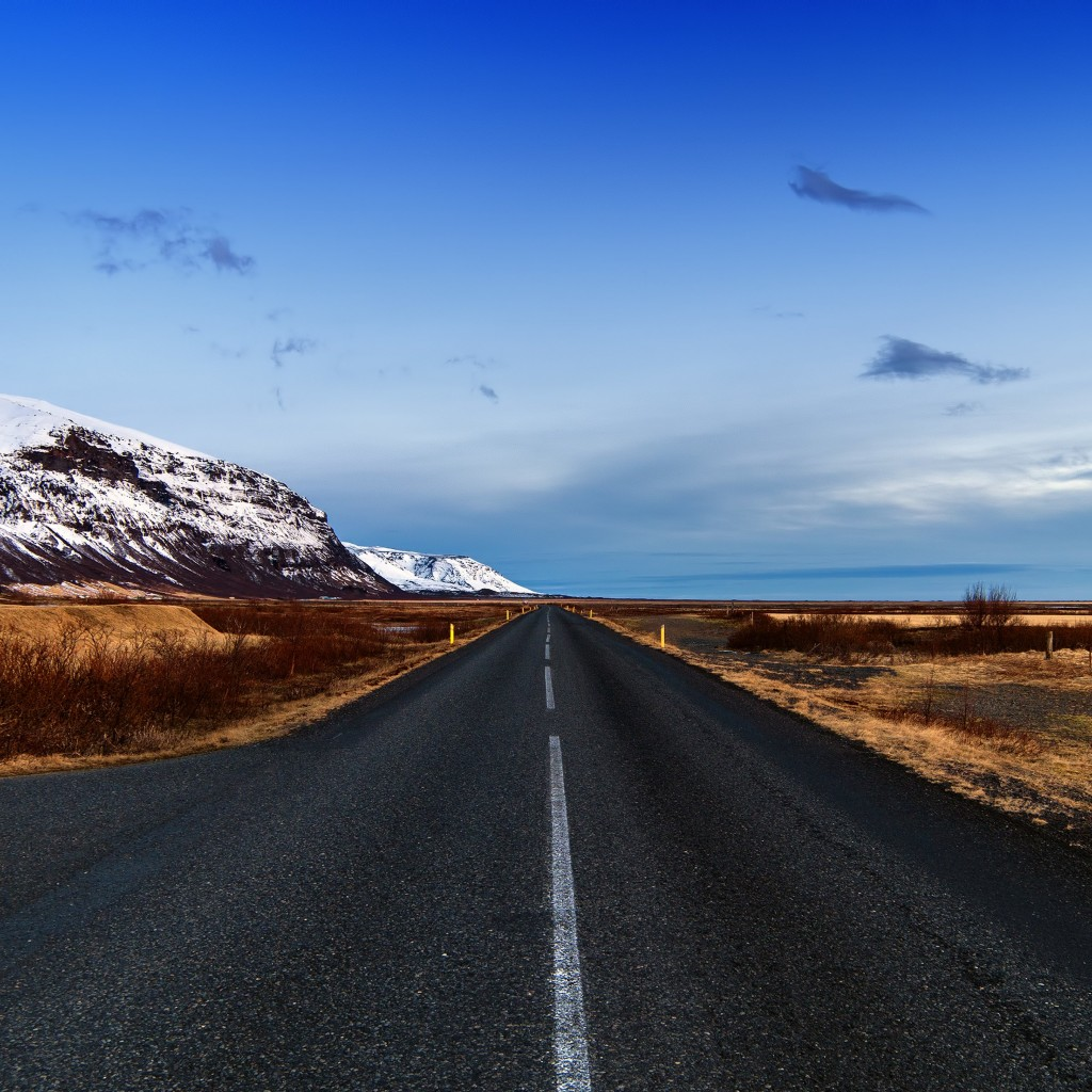 Icelandic Road, Skaftafell, Iceland Wallpaper for Apple iPad