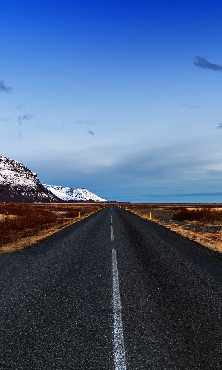 Icelandic Road, Skaftafell, Iceland Wallpaper for Google Nexus 4
