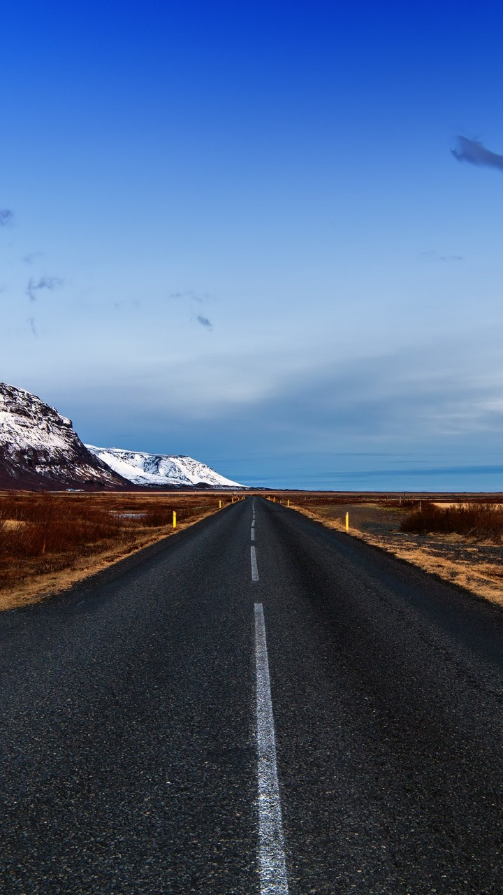 Icelandic Road, Skaftafell, Iceland Wallpaper for Xiaomi Redmi 2