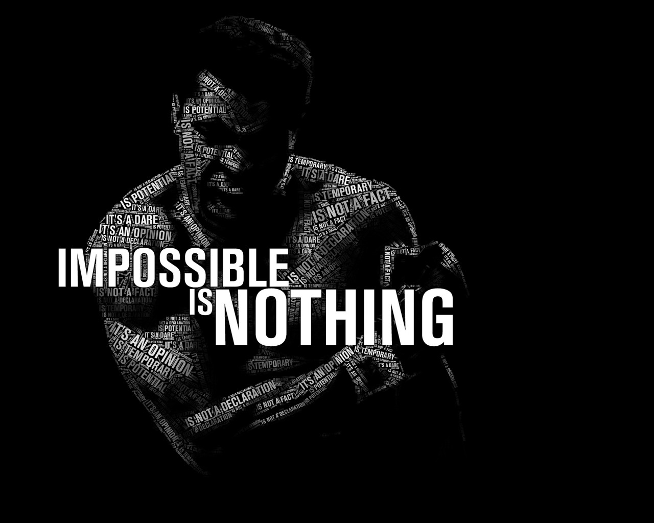 Impossible Is Nothing - Muhammad Ali Wallpaper for Desktop 1280x1024