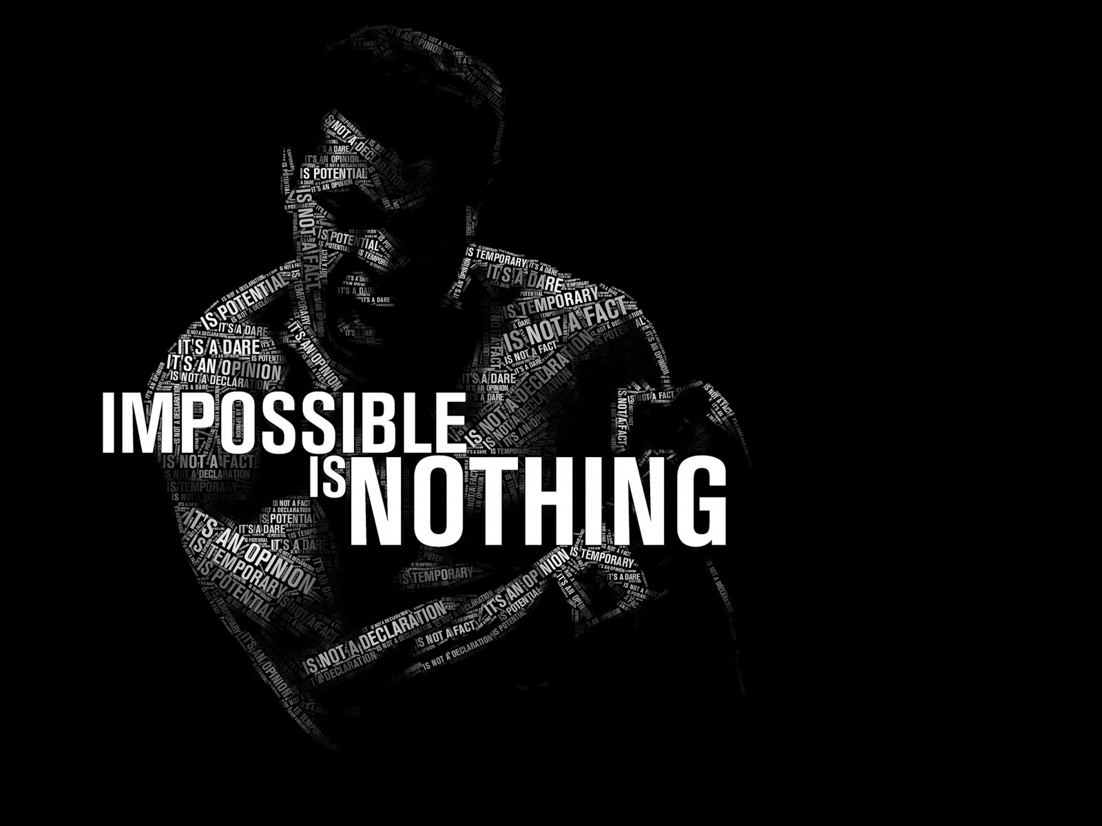 Impossible Is Nothing - Muhammad Ali Wallpaper for Desktop 1600x1200