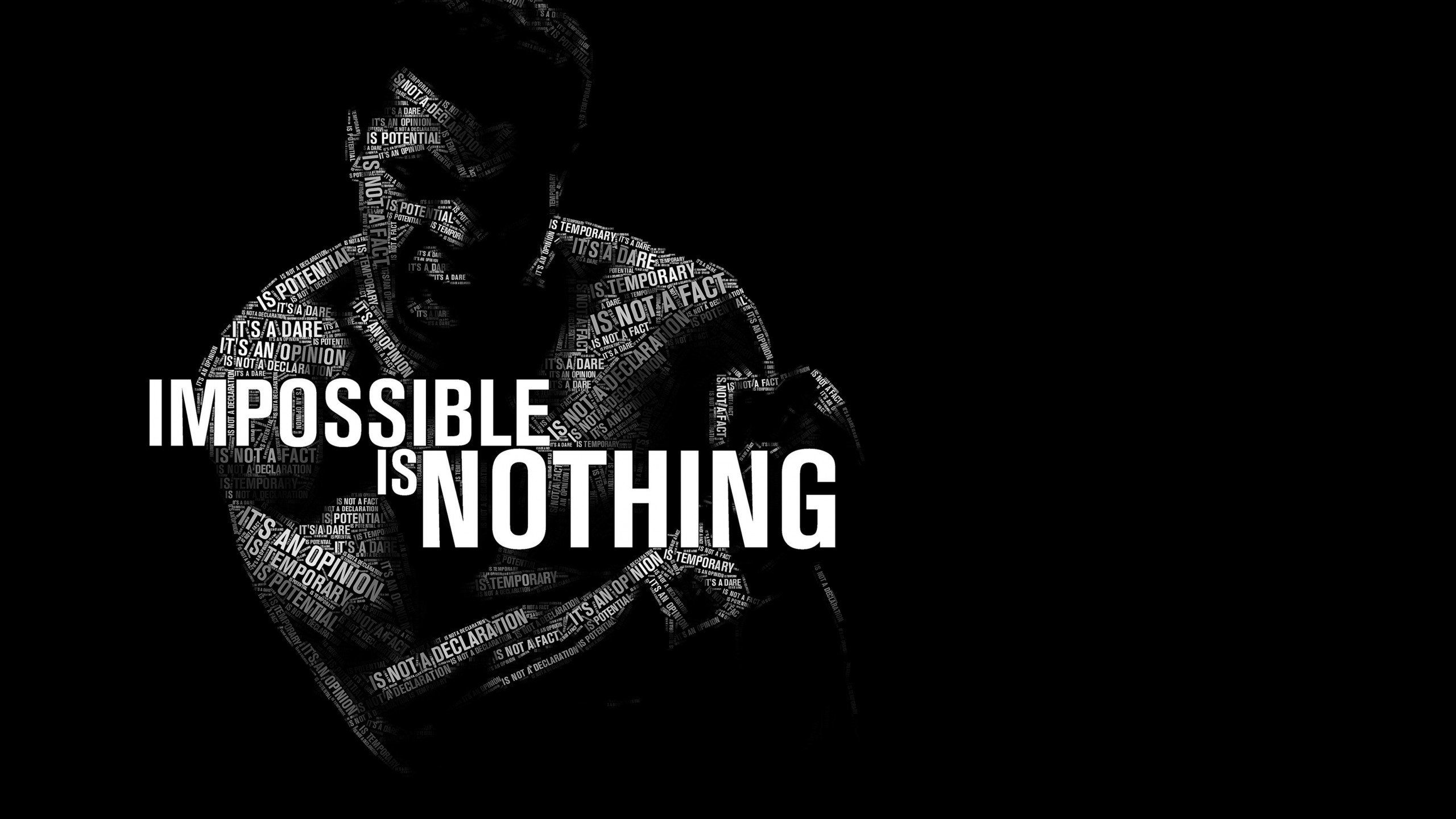 Impossible Is Nothing - Muhammad Ali Wallpaper for Desktop 2560x1440