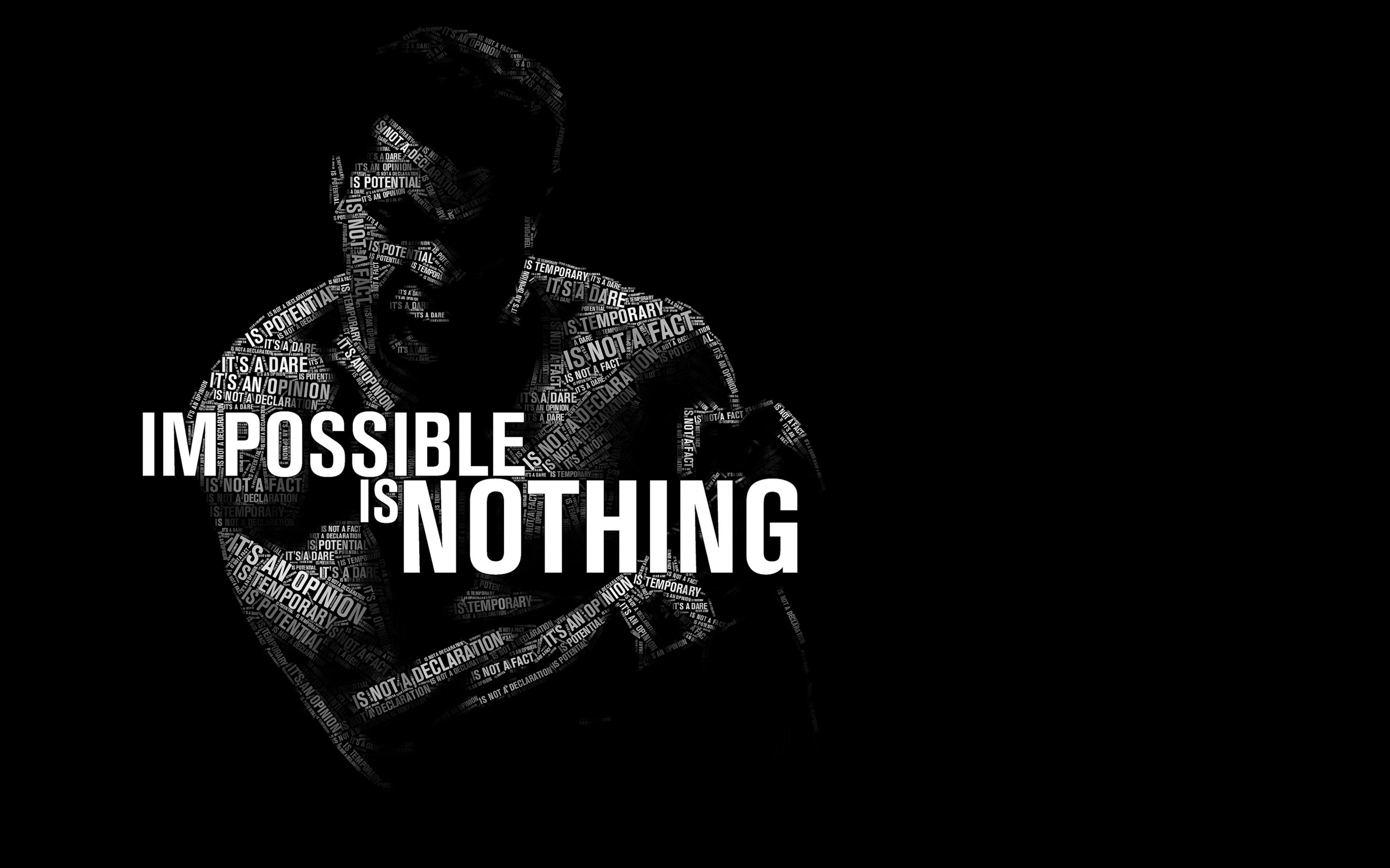 Impossible Is Nothing - Muhammad Ali Wallpaper for Desktop 2880x1800