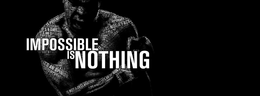 Impossible Is Nothing - Muhammad Ali Wallpaper for Social Media Facebook Cover