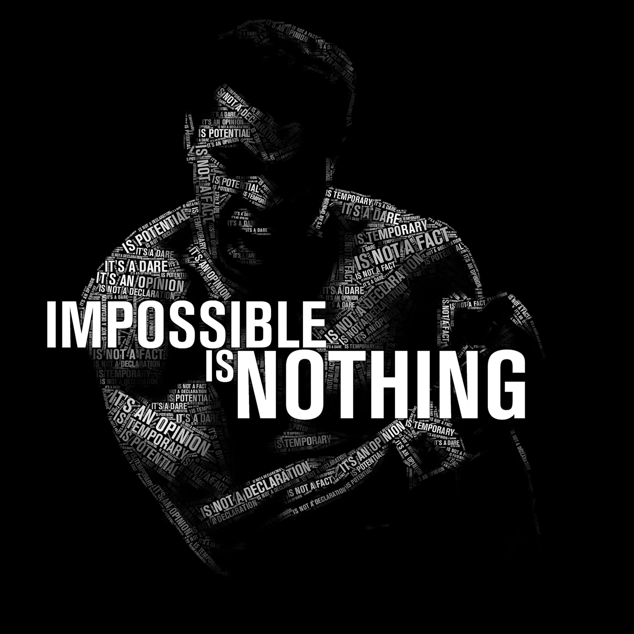 Impossible Is Nothing - Muhammad Ali Wallpaper for Apple iPad 4