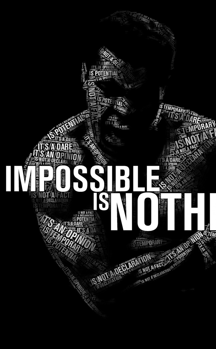 Impossible Is Nothing - Muhammad Ali Wallpaper for Apple iPhone 4 / 4s