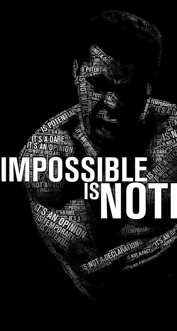 Impossible Is Nothing - Muhammad Ali Wallpaper for Apple iPhone 5 / 5s