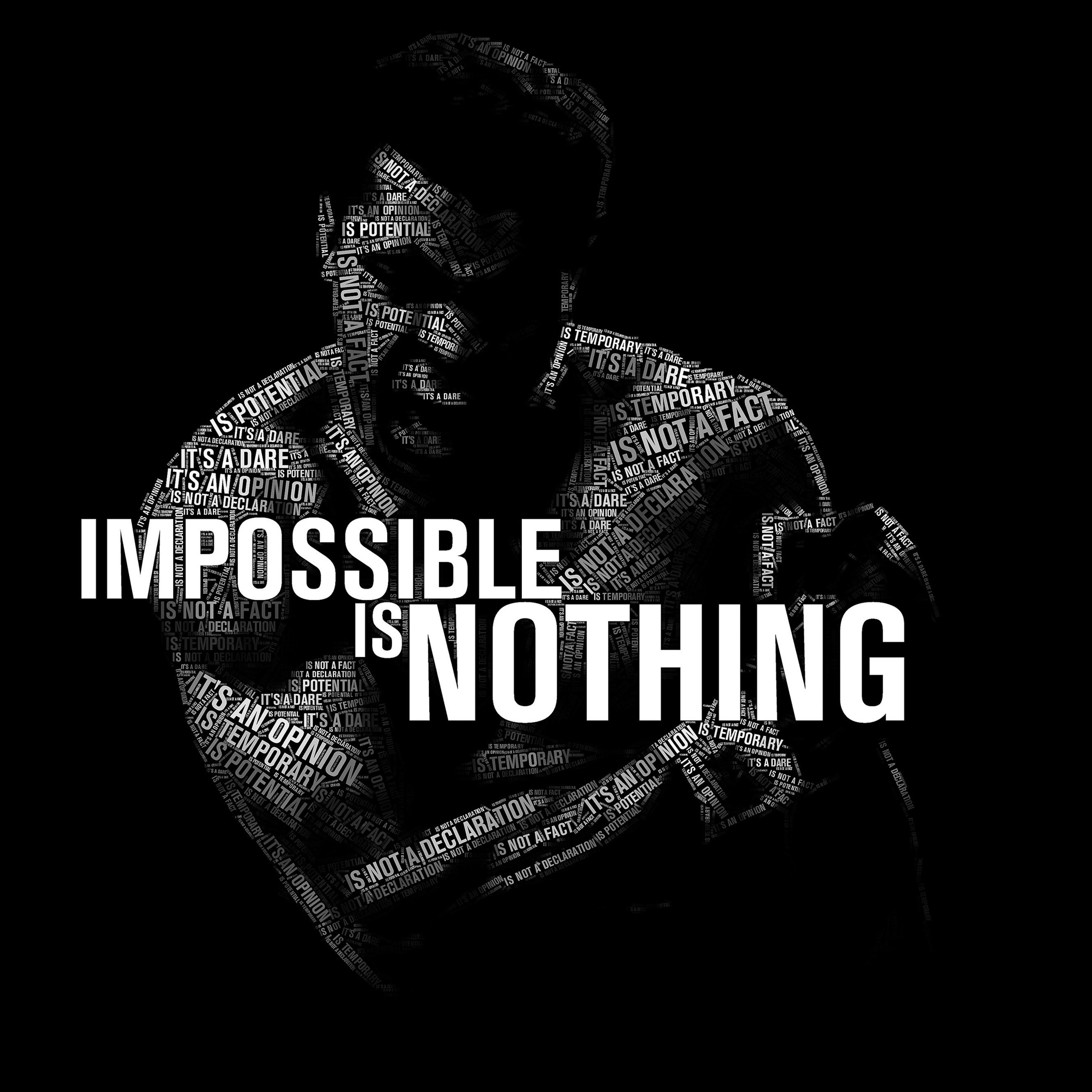 Impossible Is Nothing - Muhammad Ali Wallpaper for Apple iPhone 6 Plus