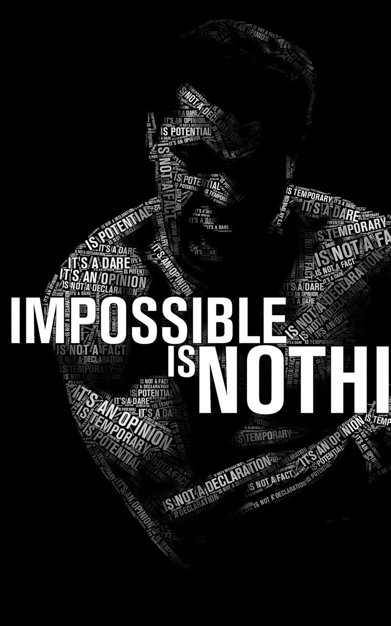 Impossible Is Nothing - Muhammad Ali Wallpaper for Amazon Kindle Fire HD