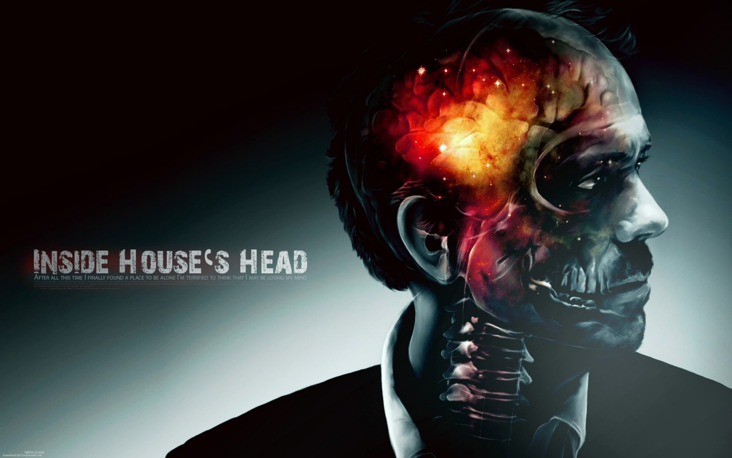 Inside House's Head Artwork Wallpaper for Desktop 1440x900