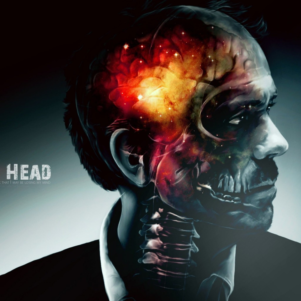 Inside House's Head Artwork Wallpaper for Apple iPad 2