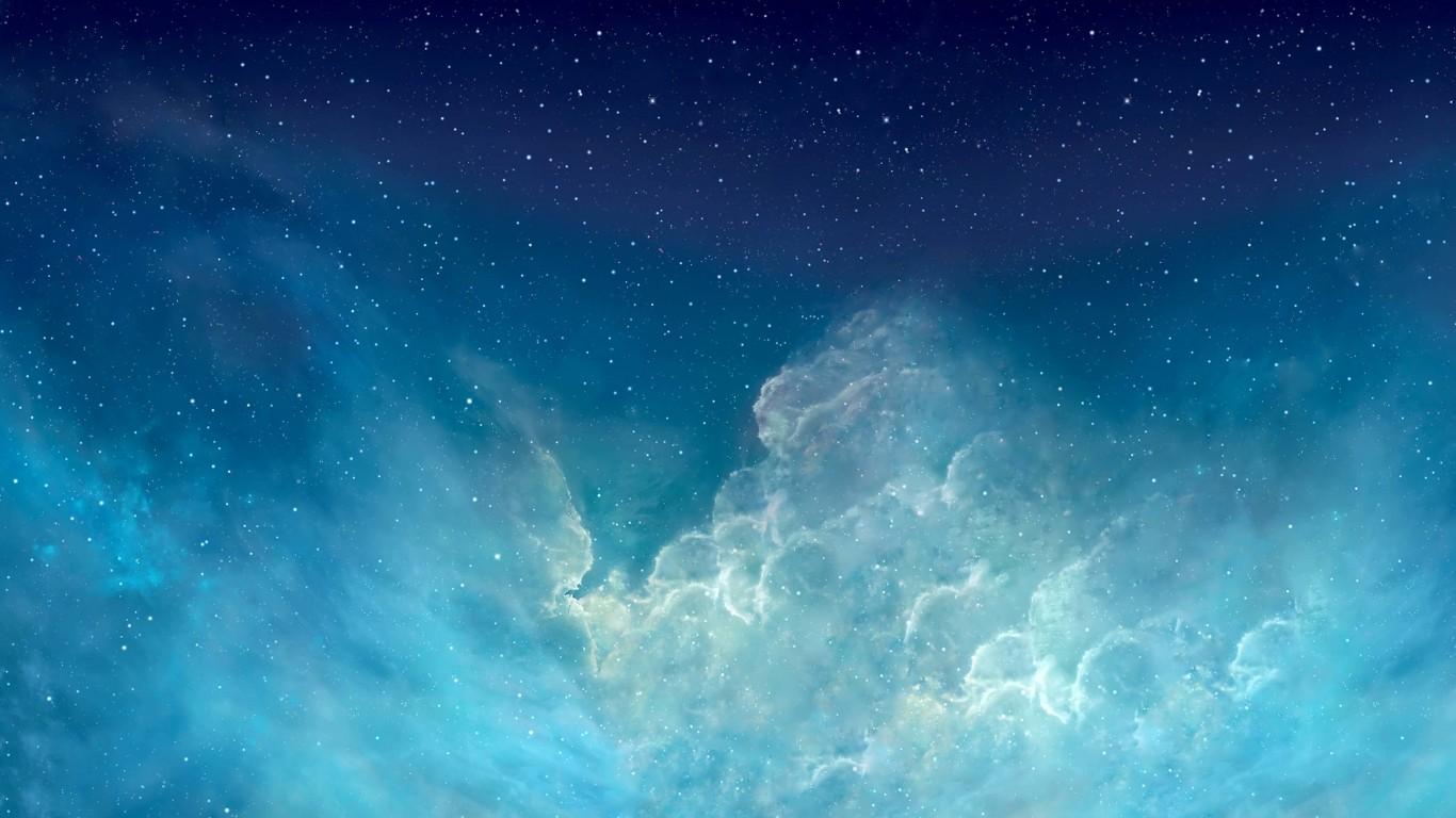 download ios nebula hd wallpaper for 1366 x 768