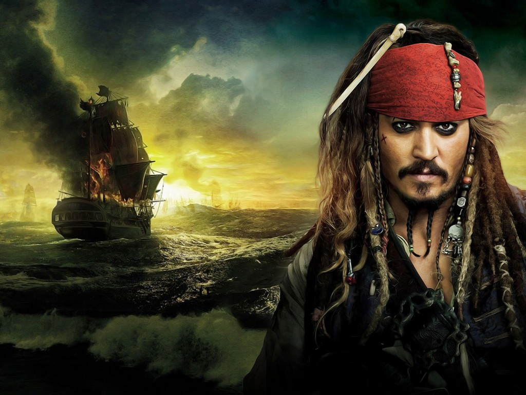Jack Sparrow - Pirates Of The Caribbean Wallpaper for Desktop 1024x768