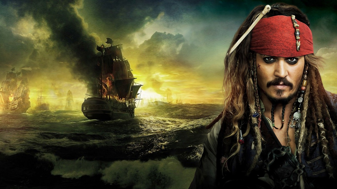 Jack Sparrow - Pirates Of The Caribbean Wallpaper for Desktop 1366x768