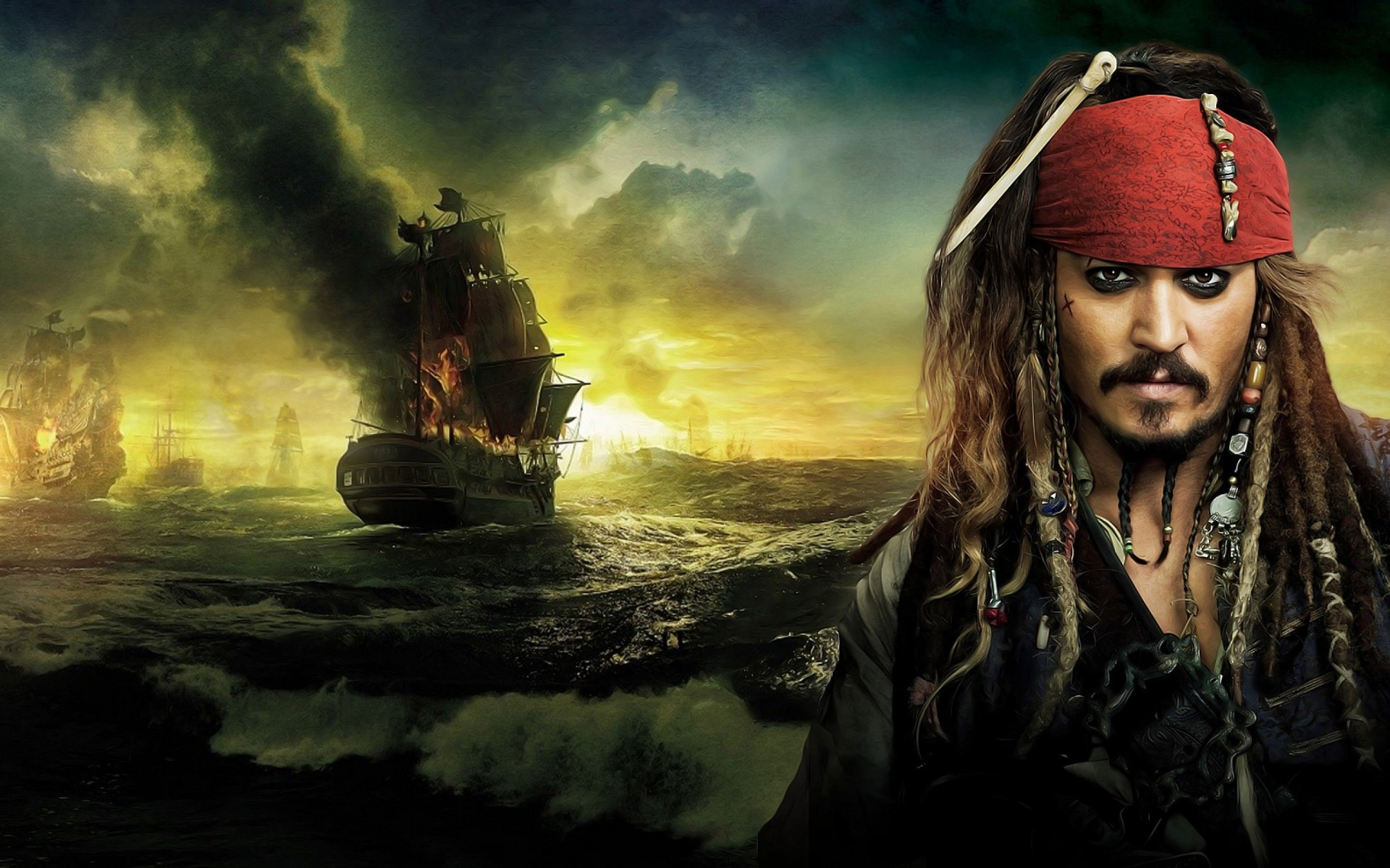 Jack Sparrow - Pirates Of The Caribbean Wallpaper for Desktop 1920x1200