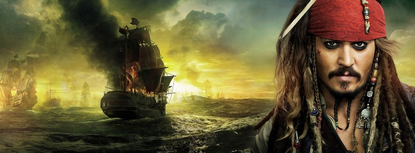 Jack Sparrow - Pirates Of The Caribbean Wallpaper for Social Media Facebook Cover
