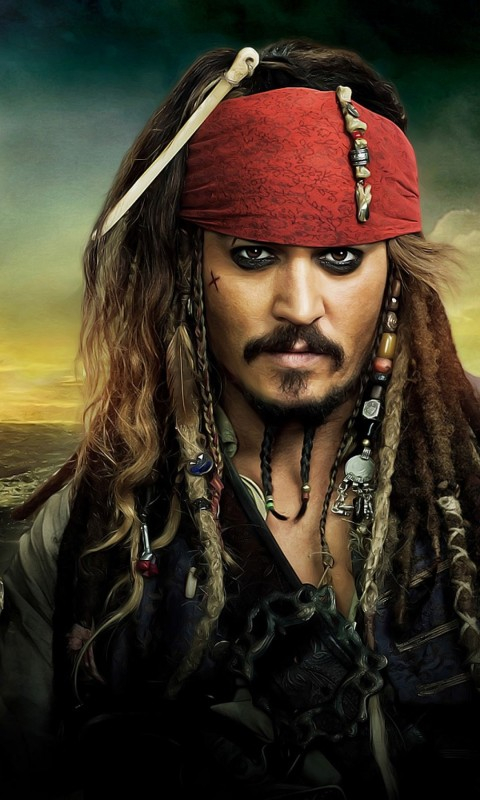 Jack Sparrow - Pirates Of The Caribbean Wallpaper for HTC Desire HD