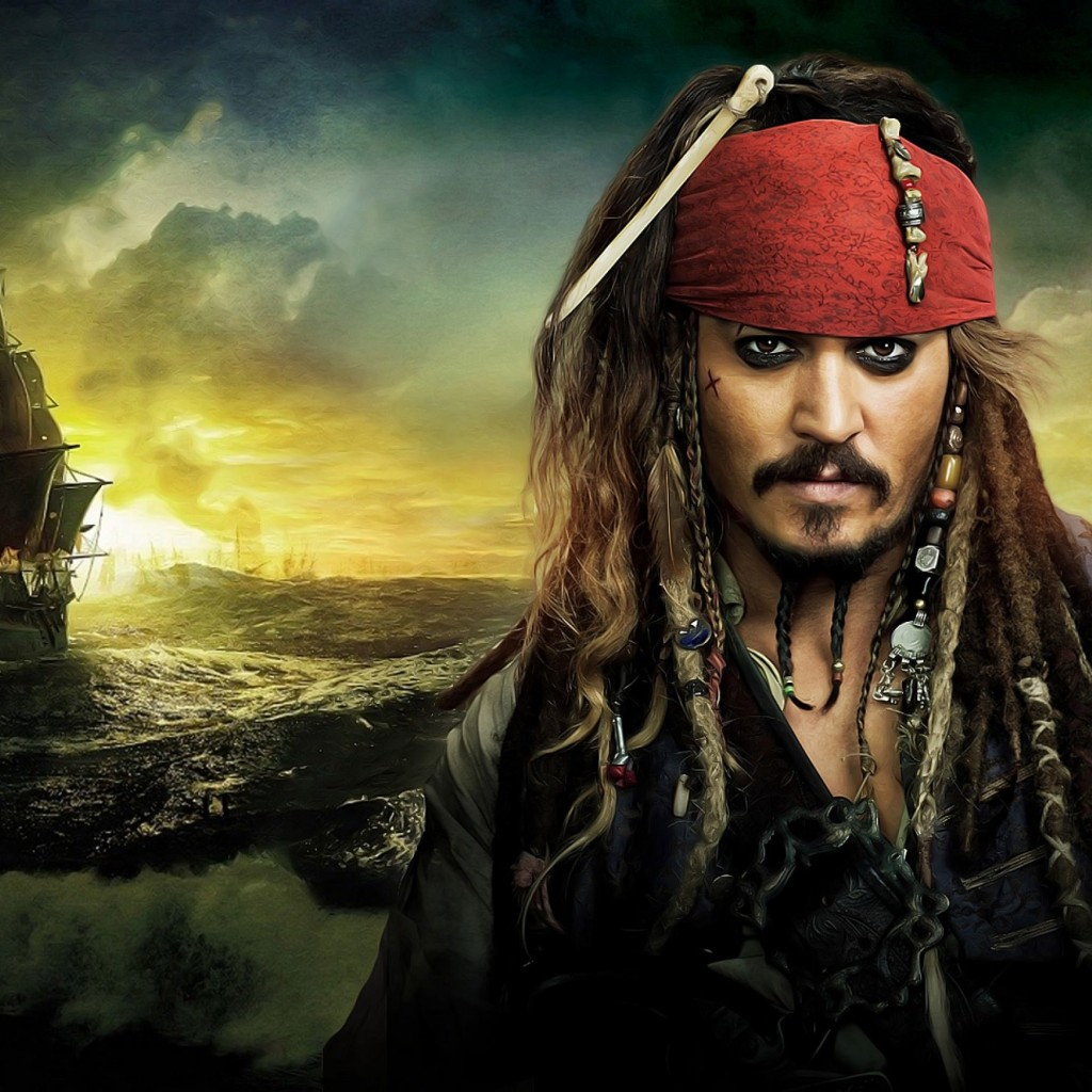 Jack Sparrow - Pirates Of The Caribbean Wallpaper for Apple iPad