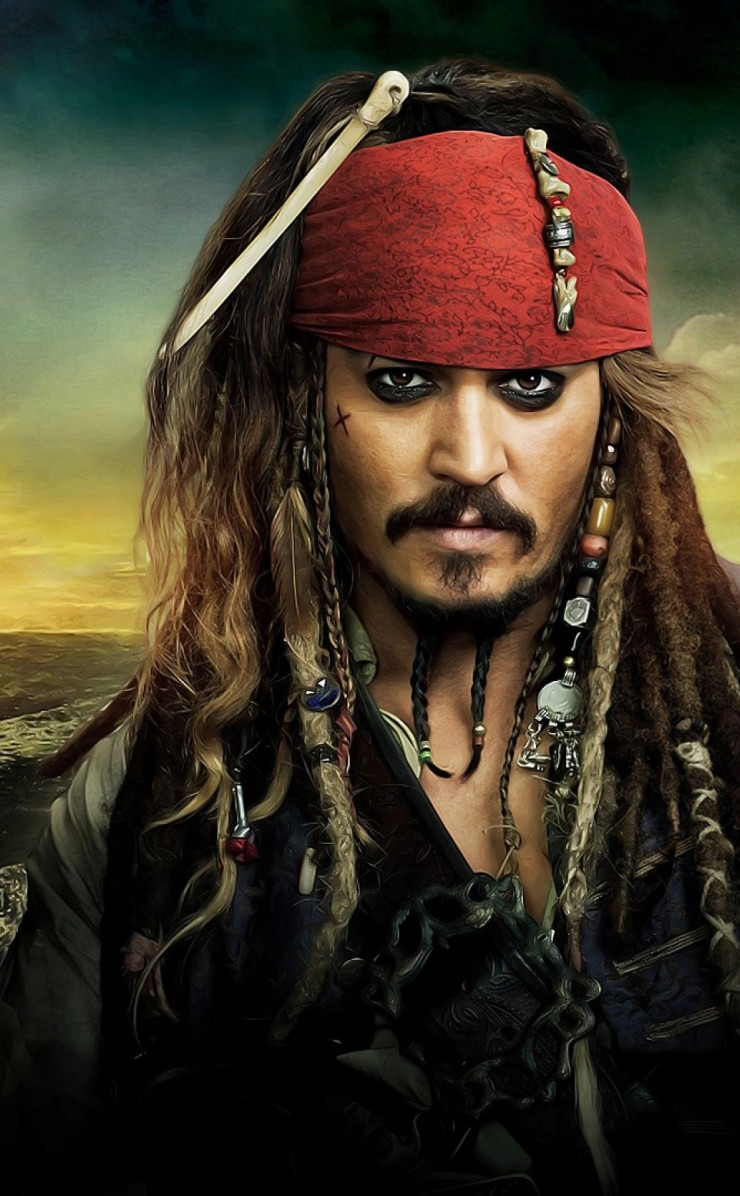 Jack Sparrow - Pirates Of The Caribbean Wallpaper for Apple iPhone 4 / 4s