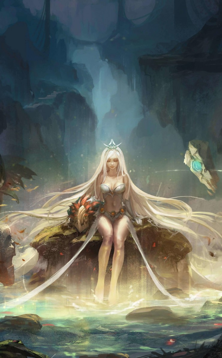 Janna - League of Legends Wallpaper for Apple iPhone 4 / 4s