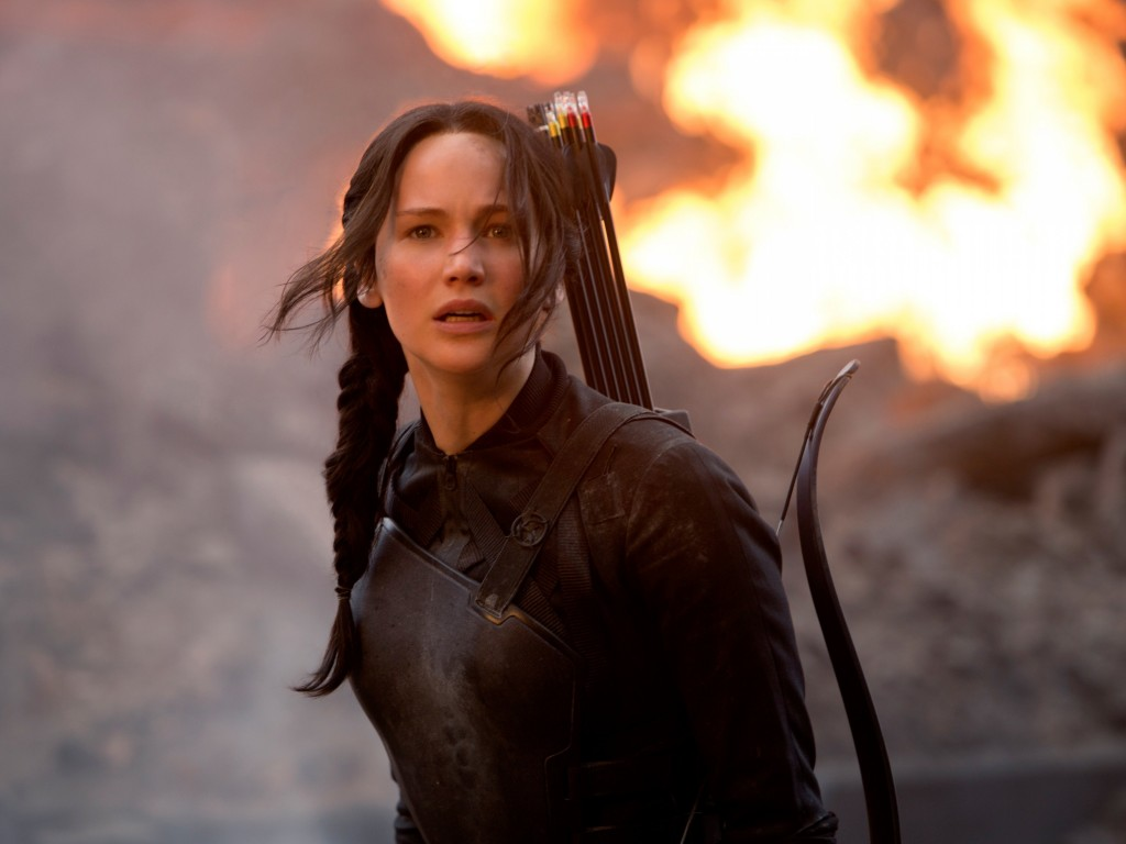 Jennifer Lawrence in The Hunger Games Wallpaper for Desktop 1024x768