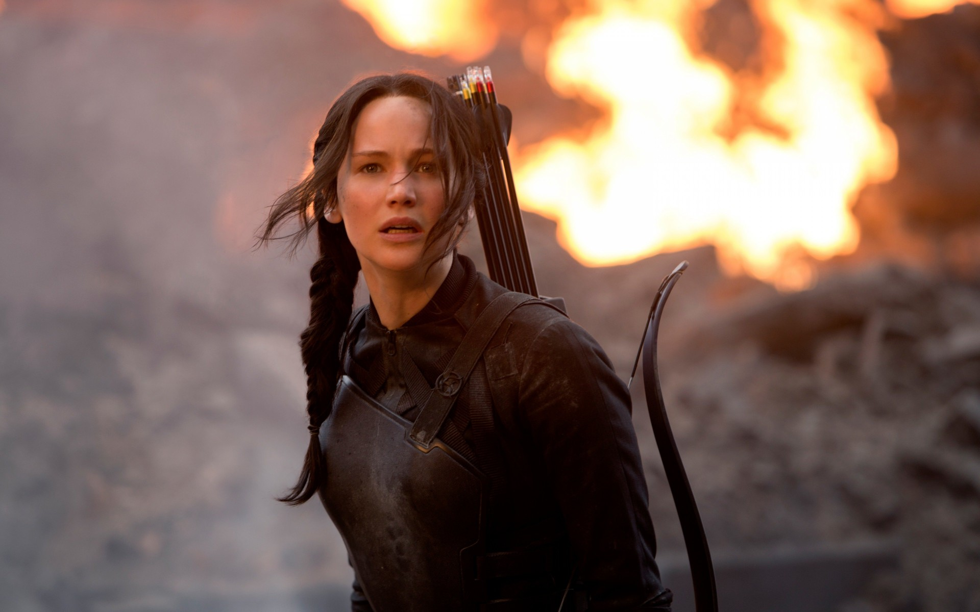 Jennifer Lawrence in The Hunger Games Wallpaper for Desktop 1920x1200