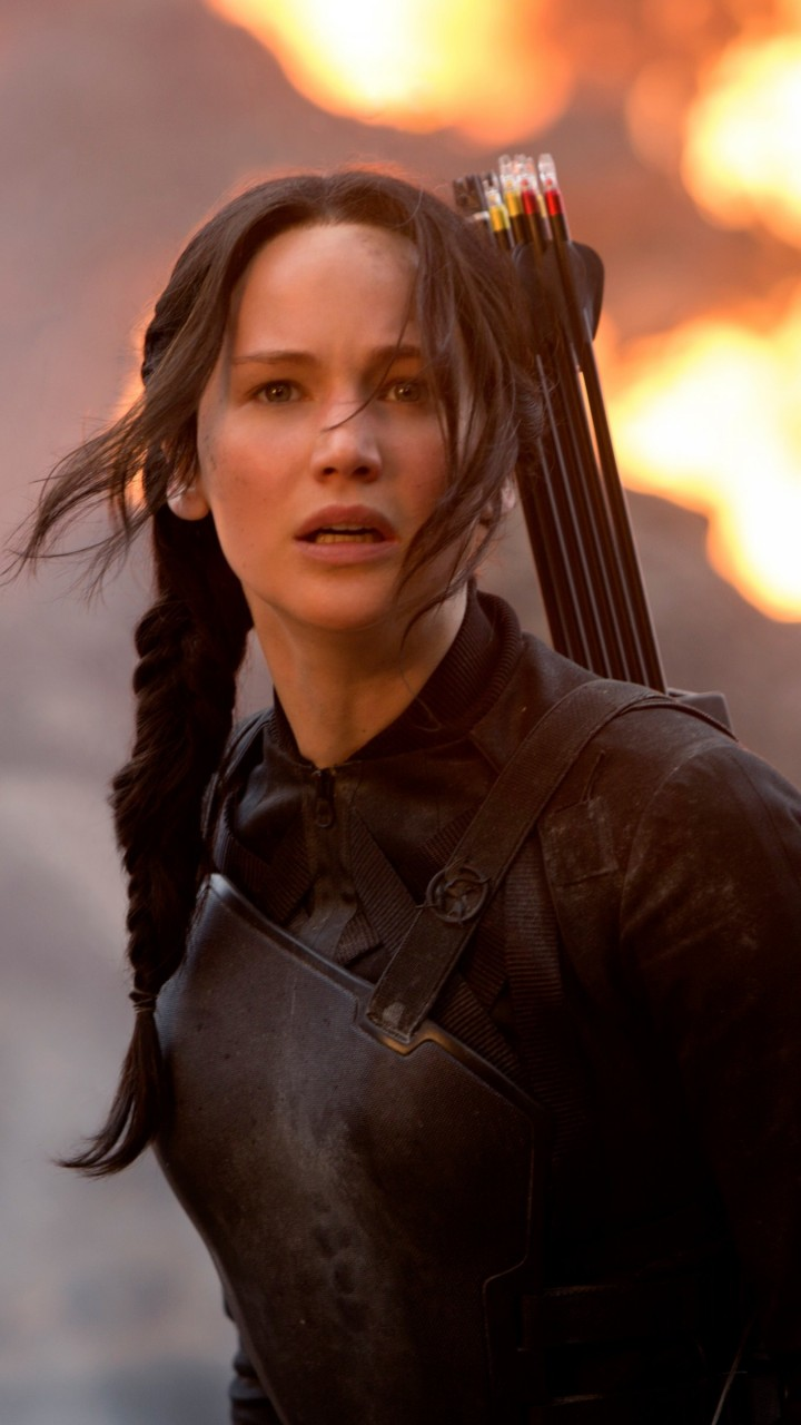 Jennifer Lawrence in The Hunger Games Wallpaper for Motorola Droid Razr HD