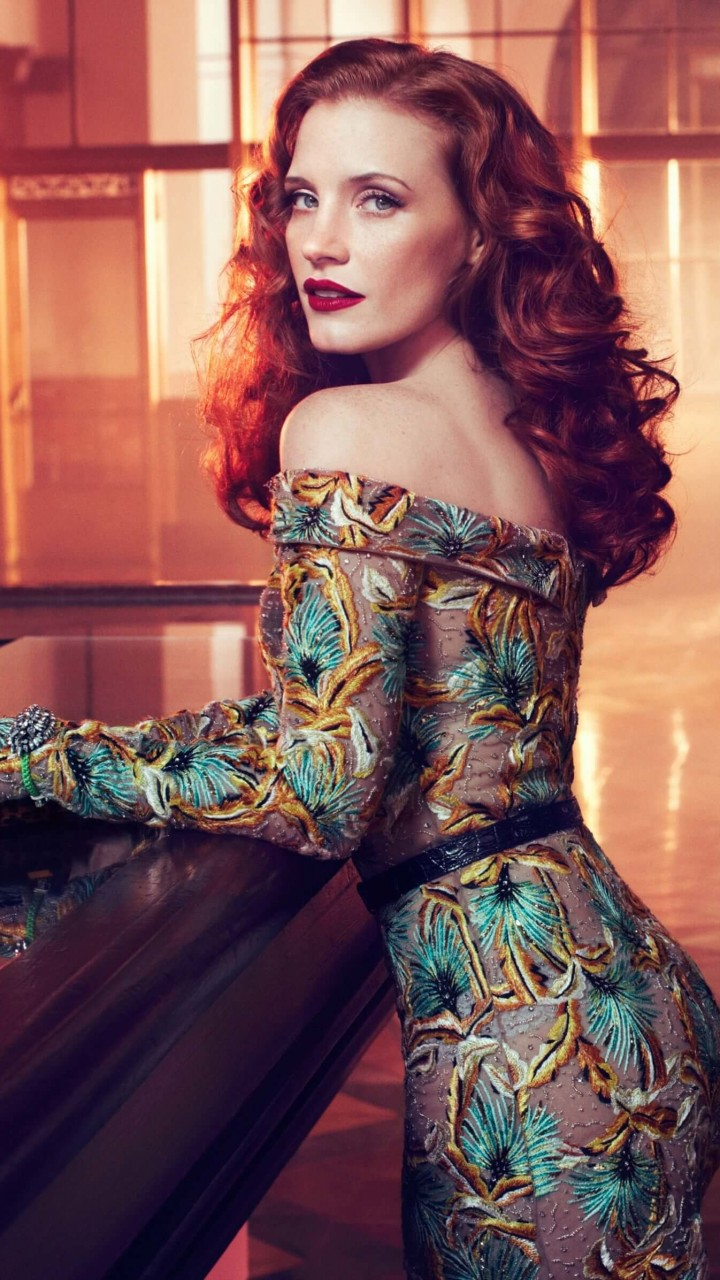 Jessica Chastain Wallpaper for SAMSUNG Galaxy S5 Mini