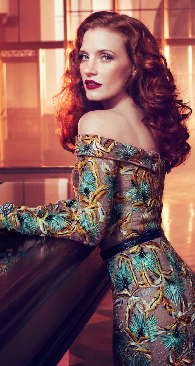 Jessica Chastain Wallpaper for Apple iPhone 5 / 5s