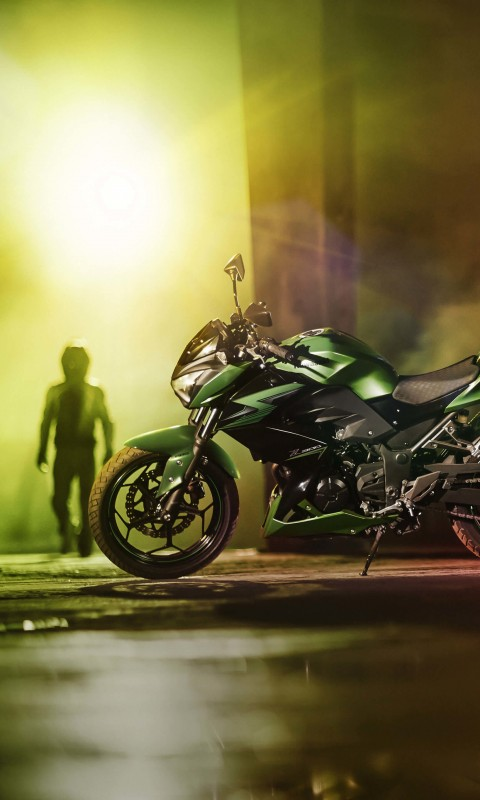 Kawasaki Z300 Wallpaper for HTC Desire HD