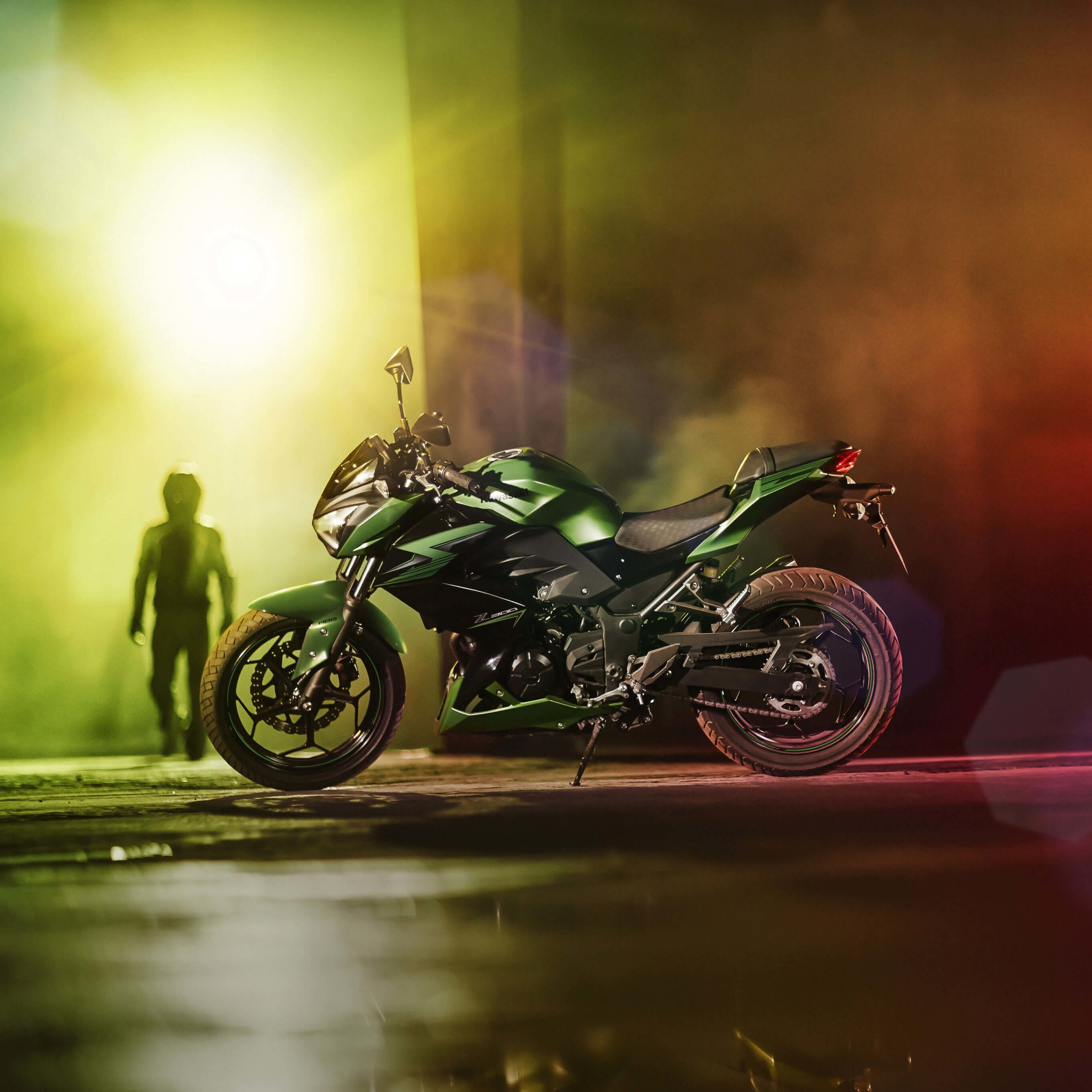 Kawasaki Z300 Wallpaper for Apple iPhone 6 Plus